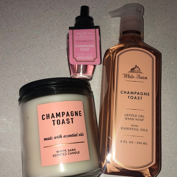 BBW Bath & Body Works Champagne Toast Home Set